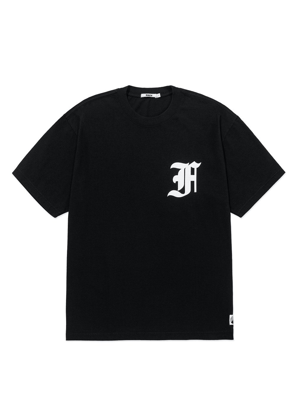 FUZZ OVER DYED OLD ENGLISH TEE black