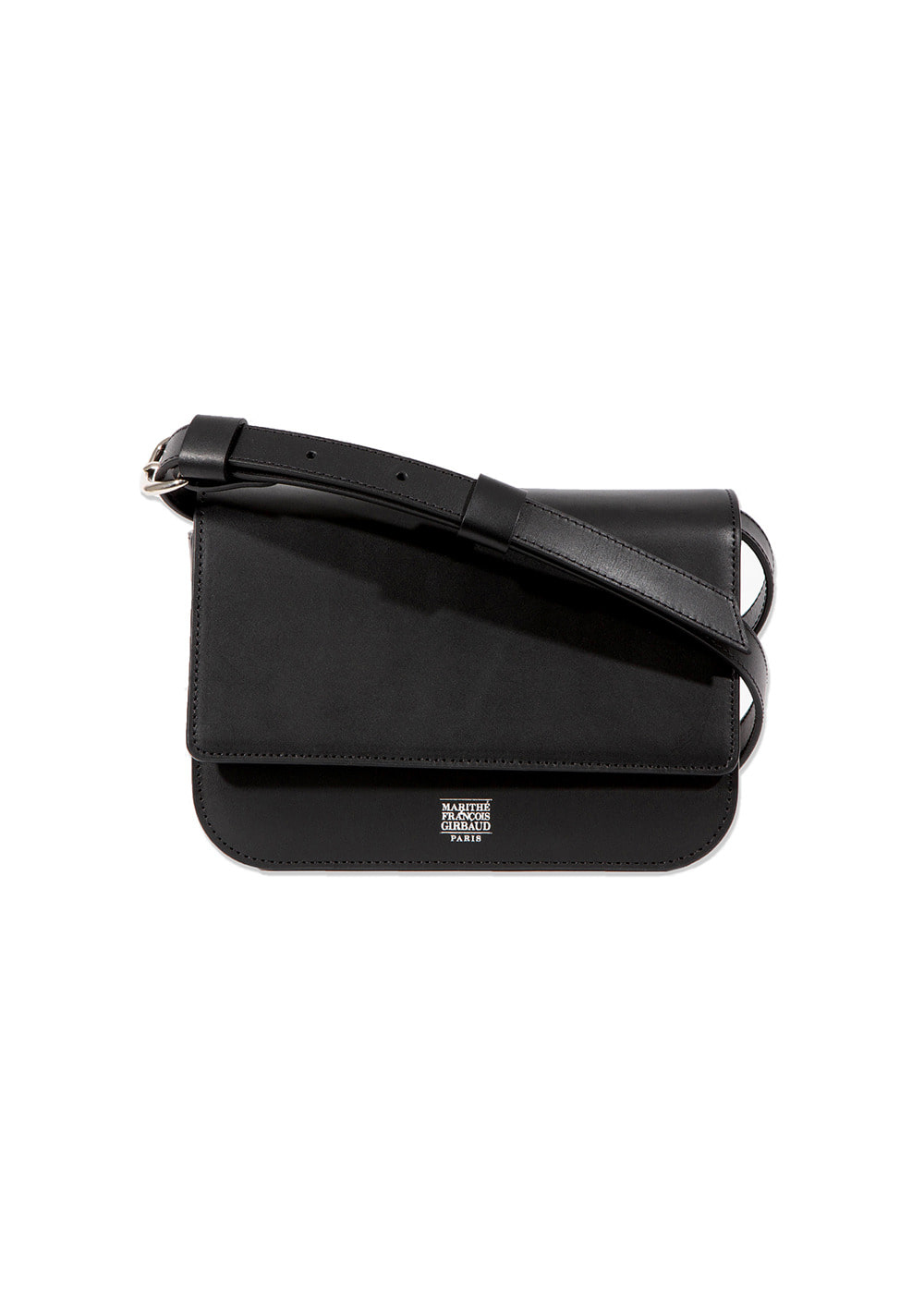 MFG LEATHER SHOULDER BAG black