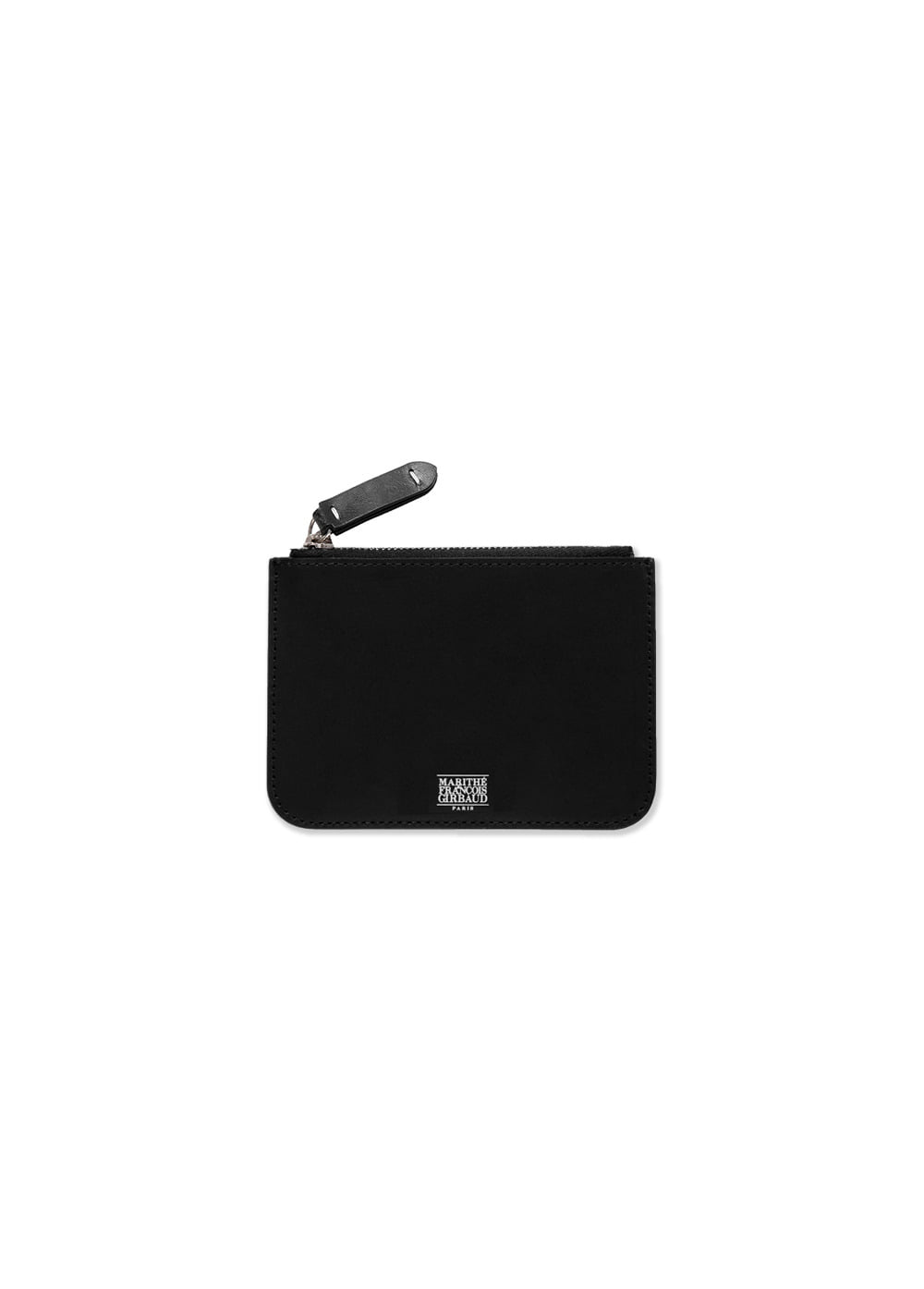 MFG LEATHER ZIP WALLET black