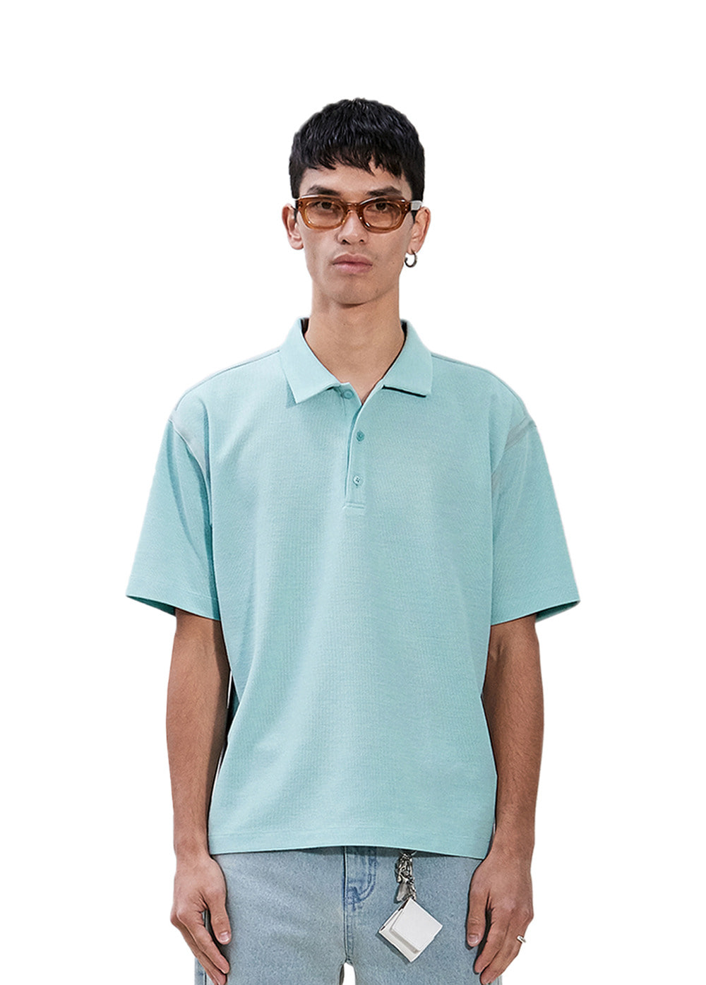 TAPED SEAM SHORT SLEEVE PIQUE SHIRT mint