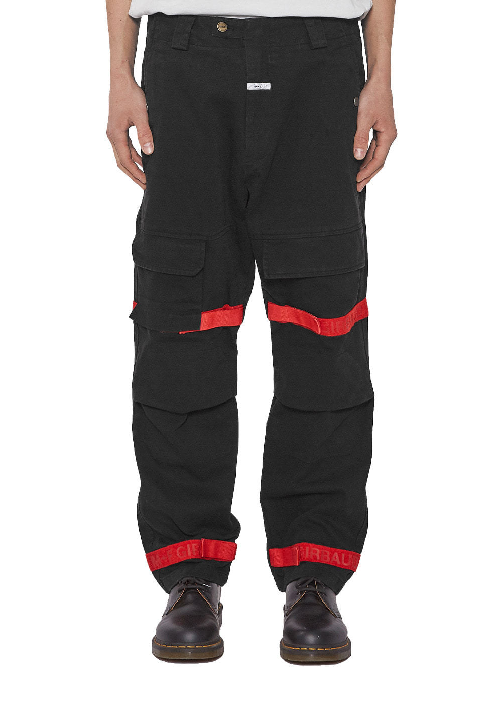 MARITHE SHUTTLE TAPE PANTS black