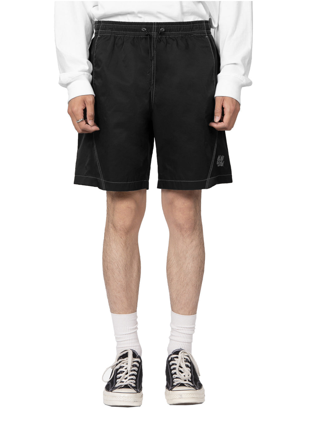 LIFUL X M.NII TWISTED EASY SHORTS black