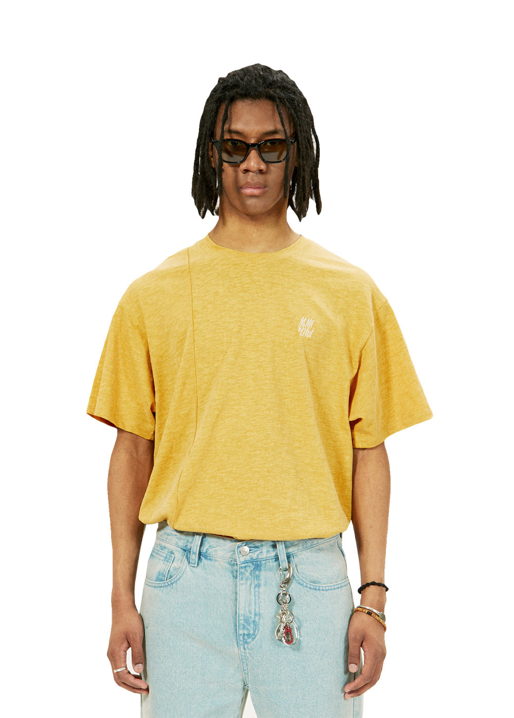 LIFUL X M.NII SEAM OUT TEE yellow