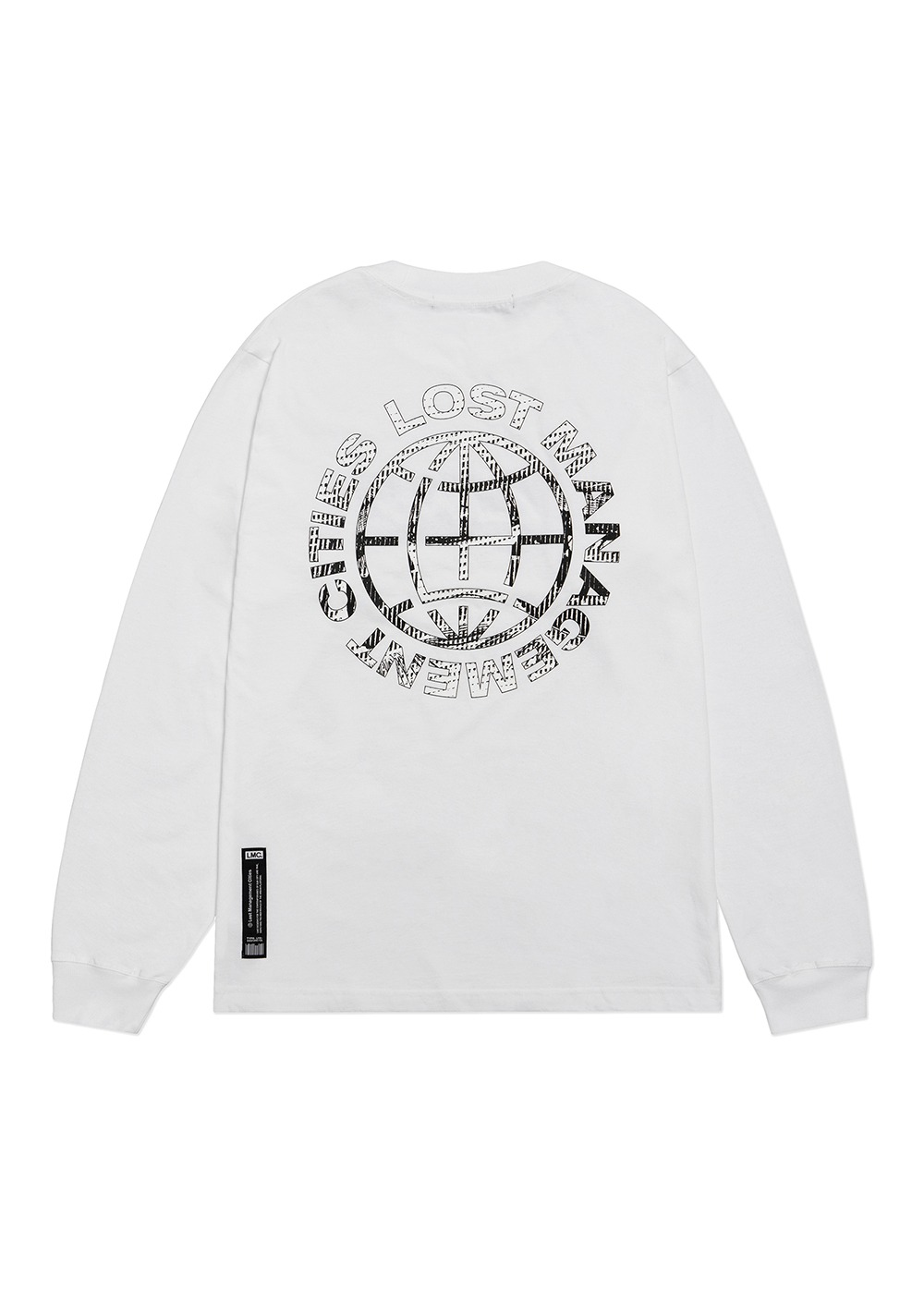 LMC D-NOISE LONG SLV TEE white