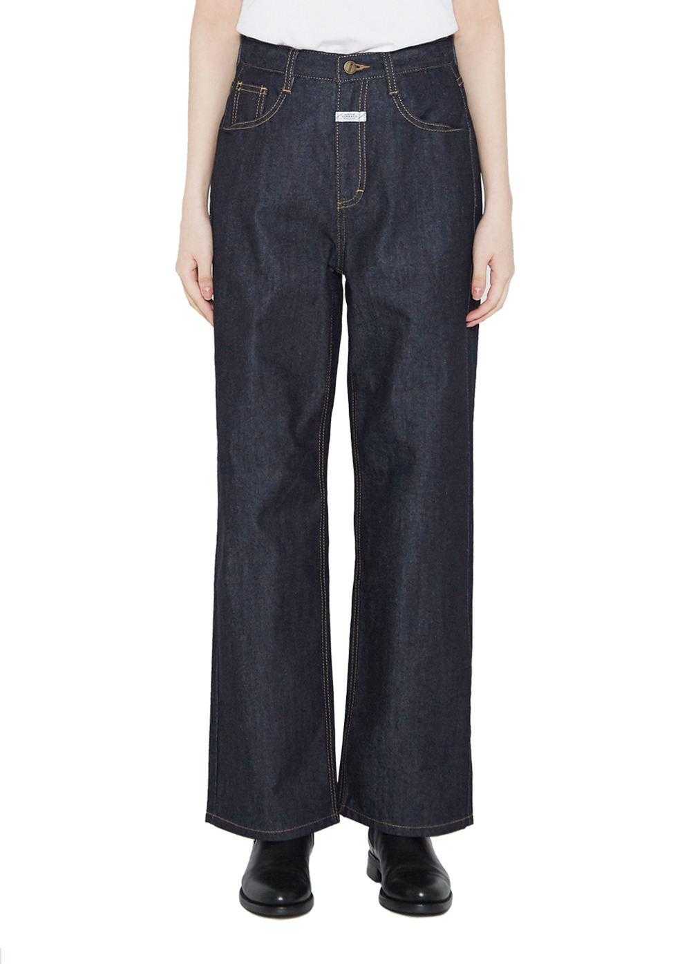 MFG W WIDE JEANS rigid blue