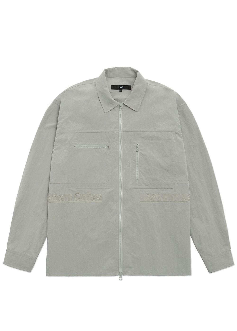 LMC FULL ZIP WORK SHIRT light gray