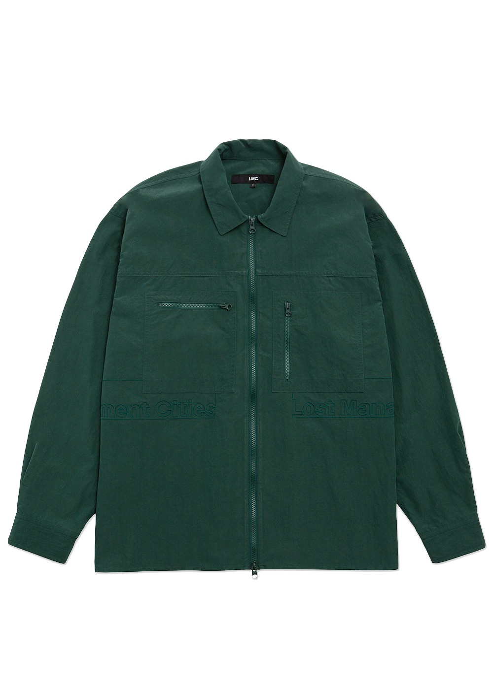 LMC FULL ZIP WORK SHIRT green