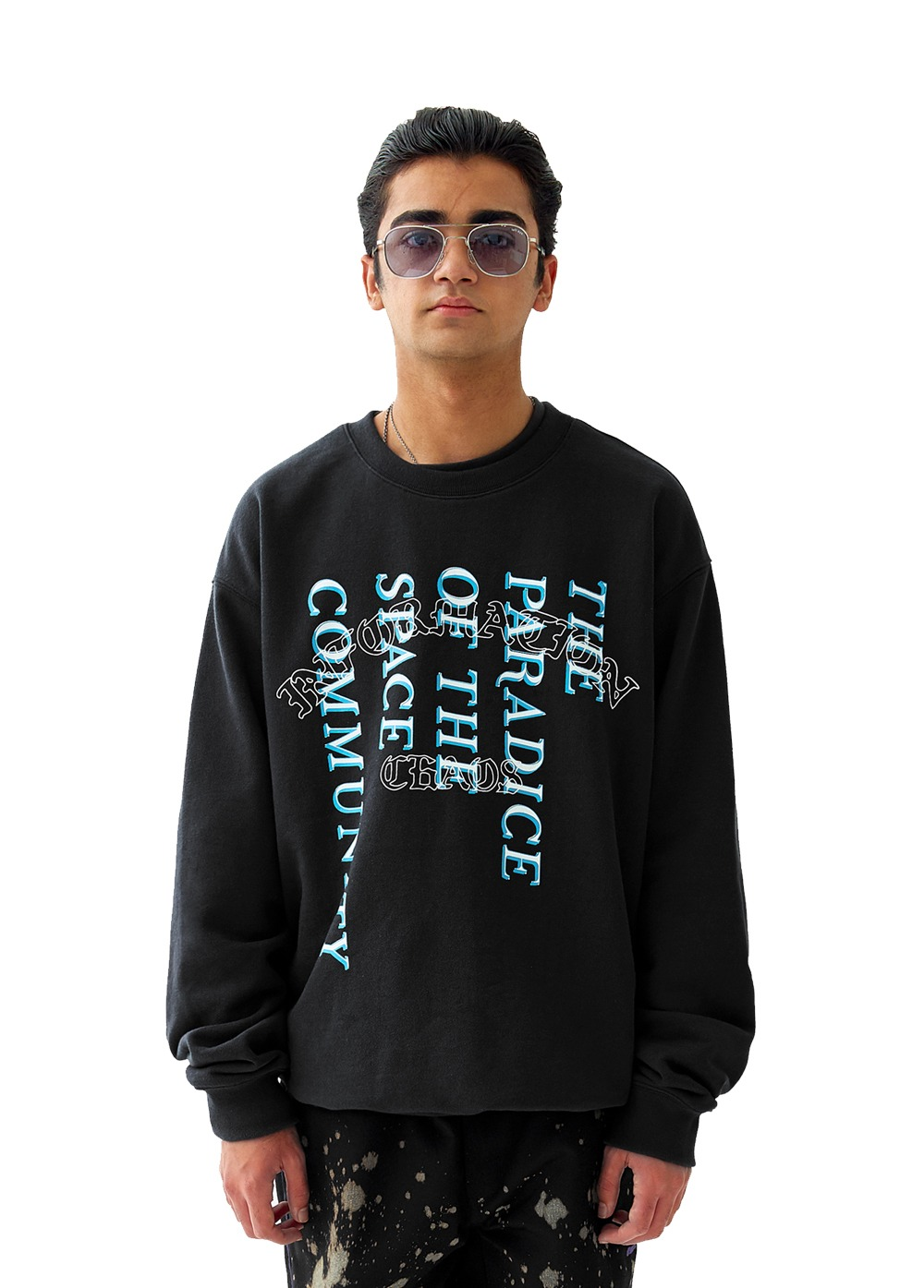 FUZZ INFORMATION CHAOS SWEATSHIRT black