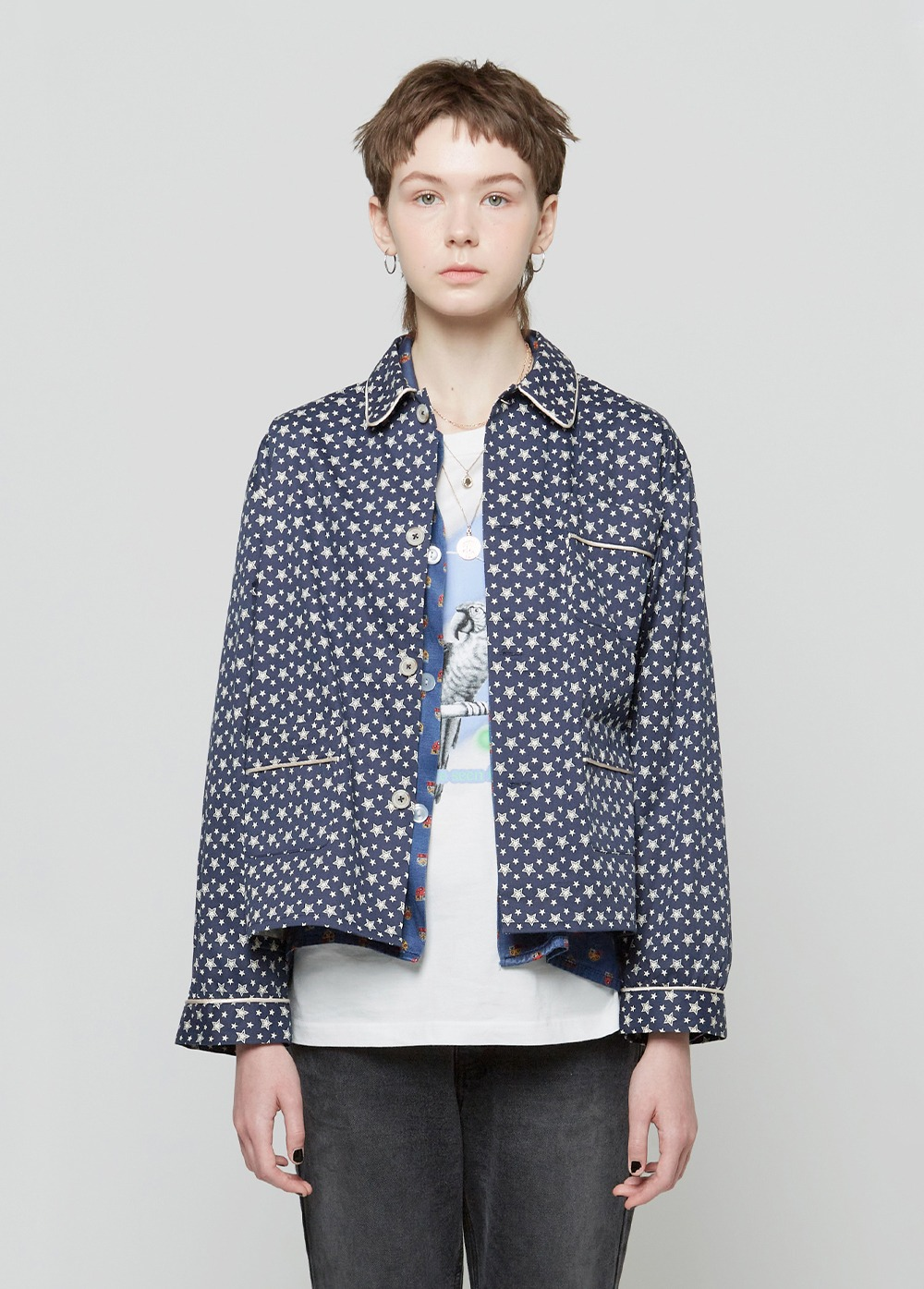 KANCO PAJAMA SHIRT navy