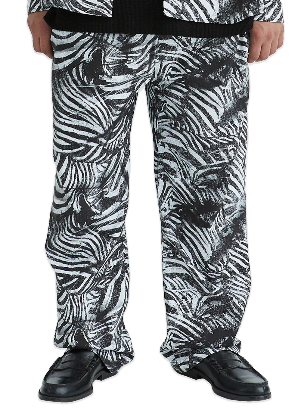 LMC ZEBRA AIRBRUSH EASY PANTS off white