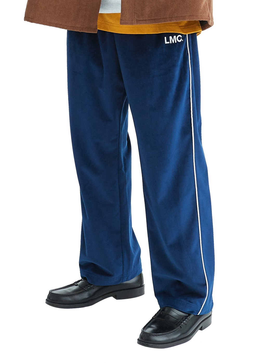 LMC VELOUR TRACK PANTS navy