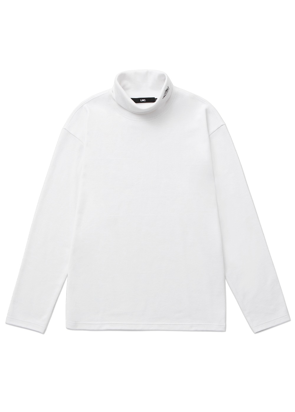 LMC CLASSIC HIGH NECK LONG SLV TEE white