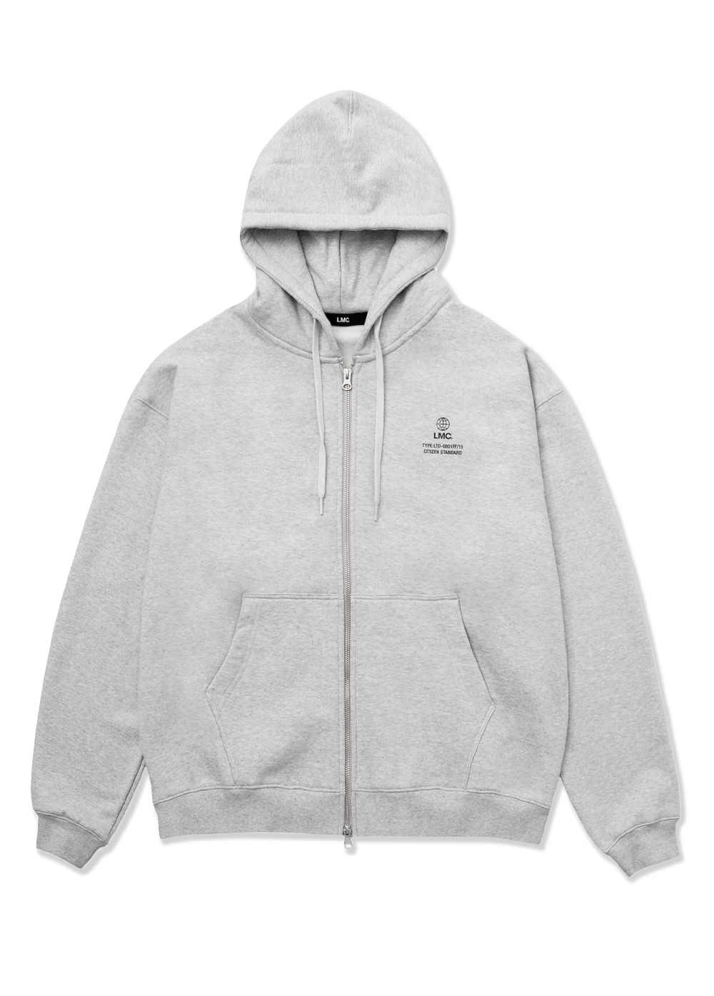 LMC SIGNATURE GLOBE ZIP-UP HOODIE heather gray