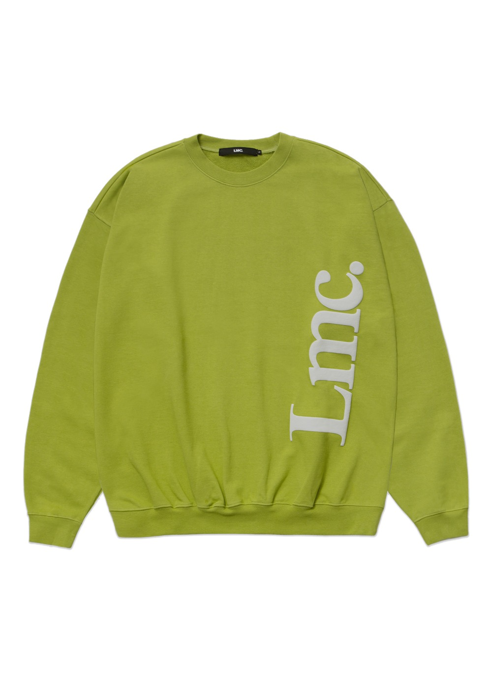 LMC VERTICAL SERIF OVERSIZED SWEATSHIRT avocado