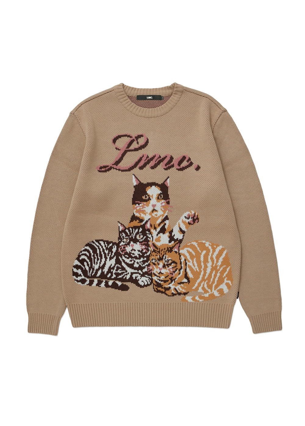 LMC CATS KNIT SWEATER beige