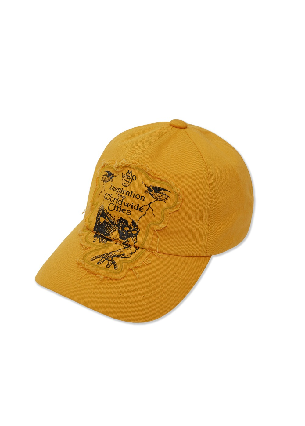 LMC RAW EDGE DEATH 5 PANEL CAP yellow