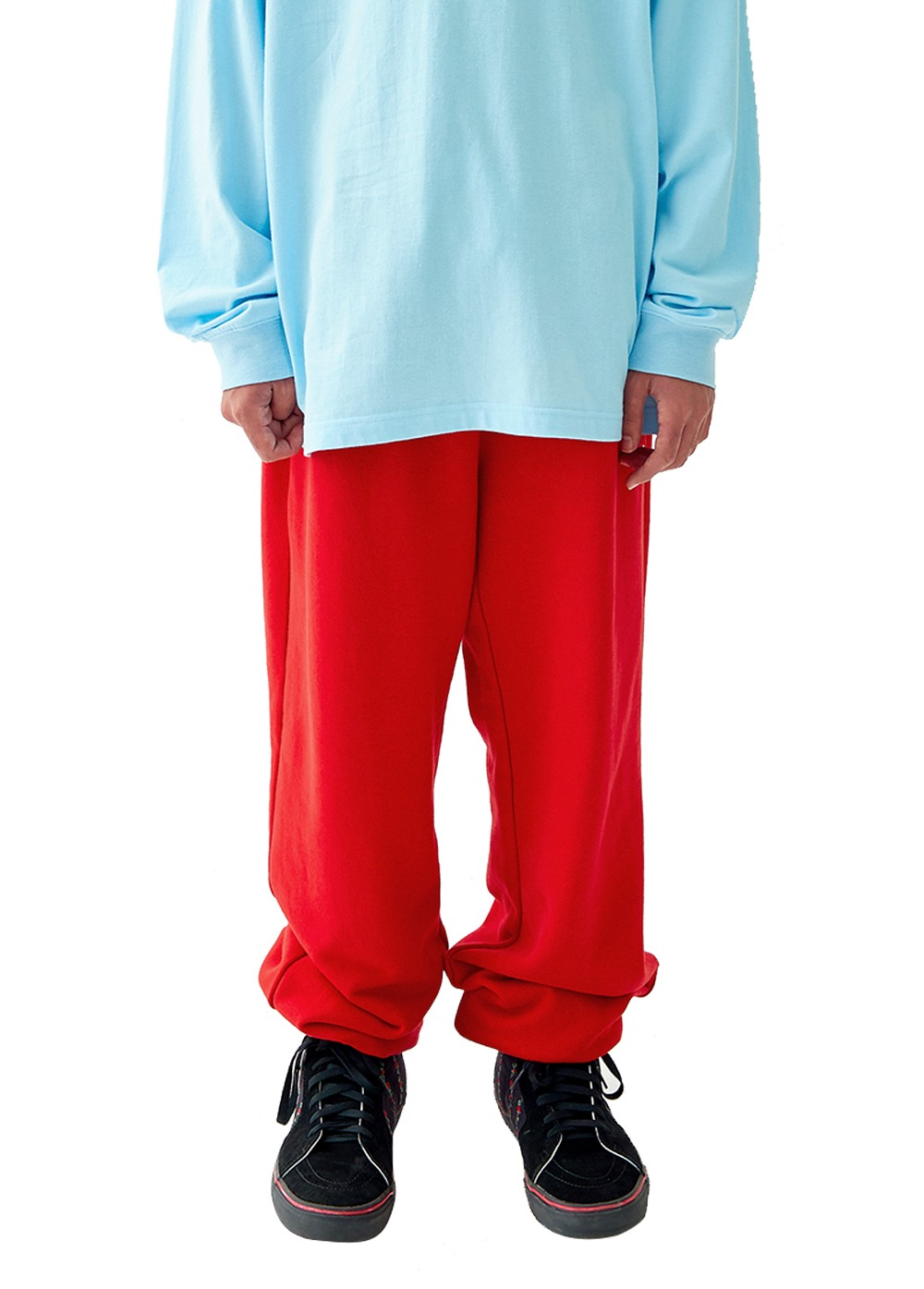 FUZZ R LOGO SWEATPANTS red