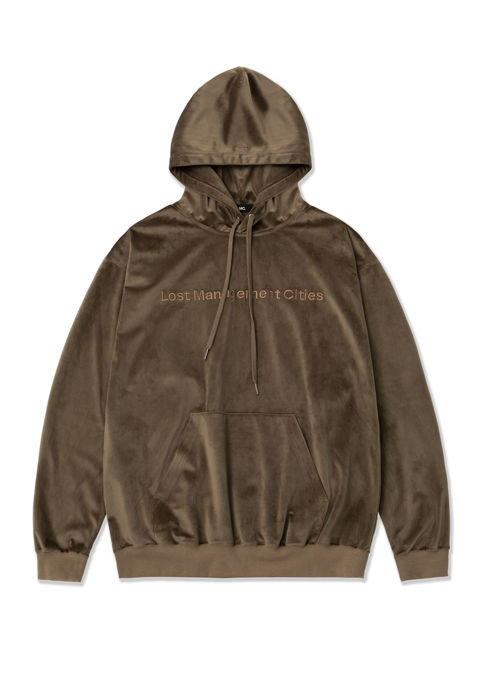 LMC VELOUR FN OVERSIZED HOODIE dark brown