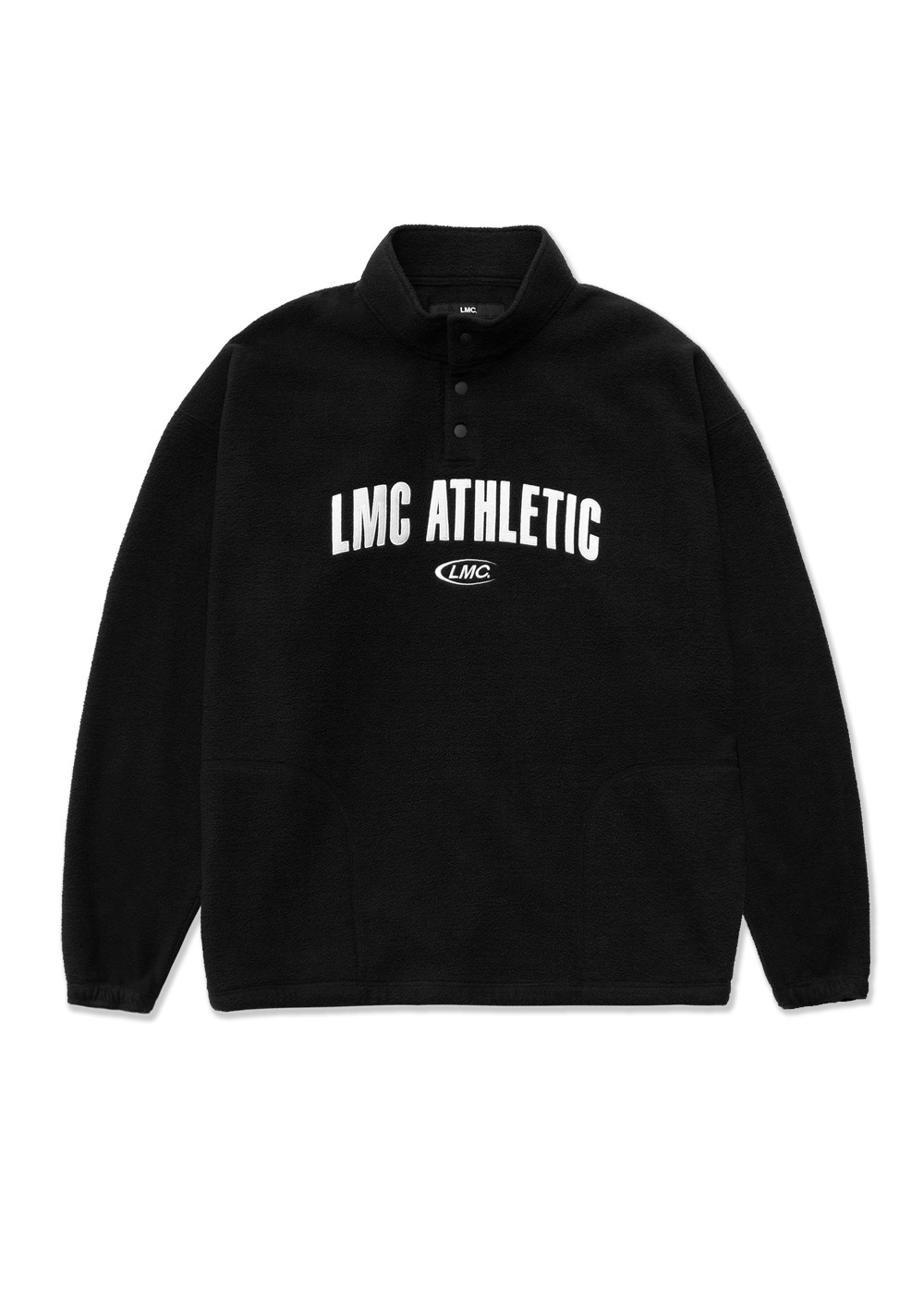 LMC FLEECE OVERSIZED PULLOVER JACKET black