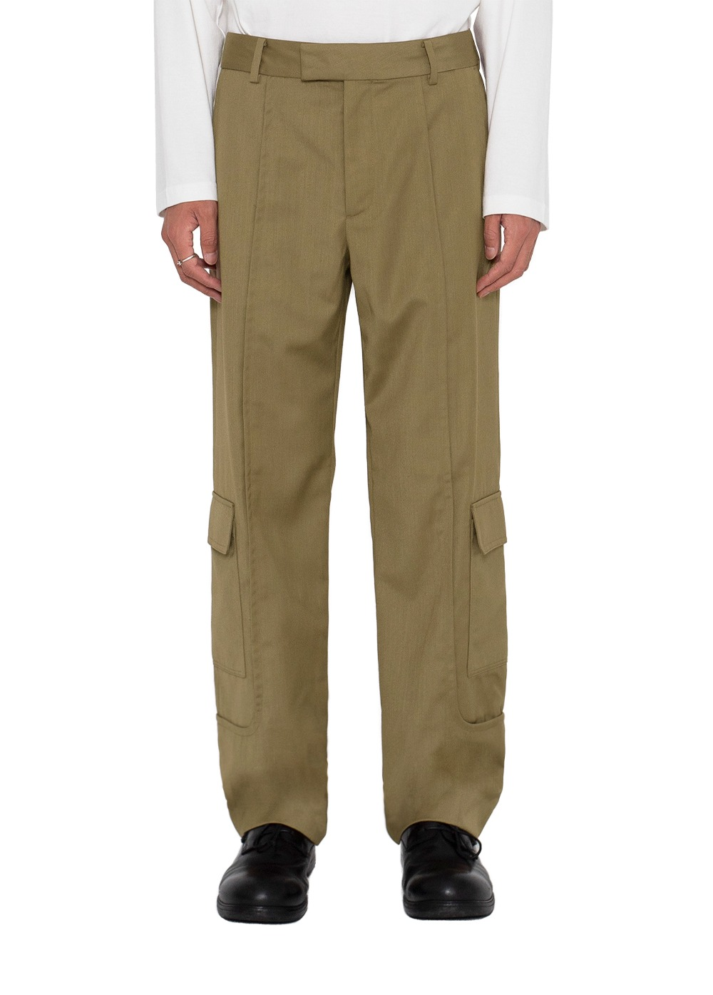 LIFUL SIDE CARGO POCKET TROUSERS beige brown