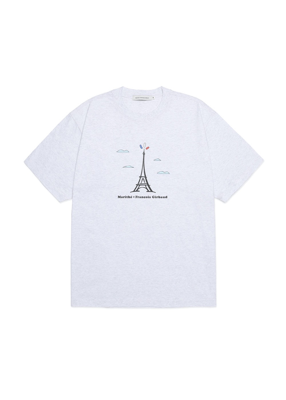 MARITHE TOWER TEE heather gray