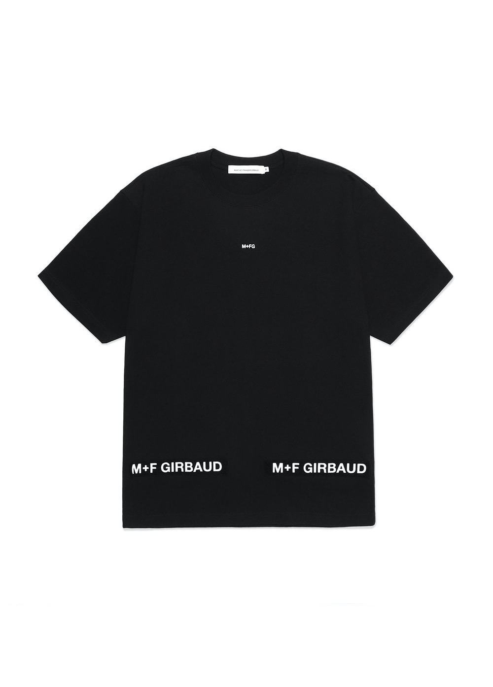 MARITHE SHUTTLE TAPE TEE black