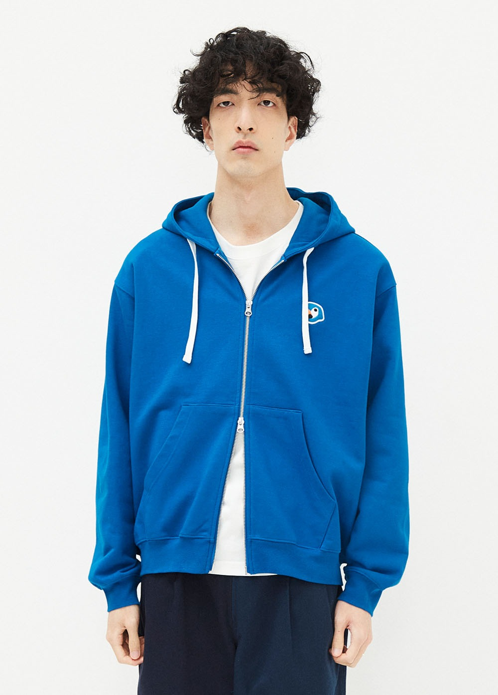 KANCO LOGO ZIP UP HOODIE blue