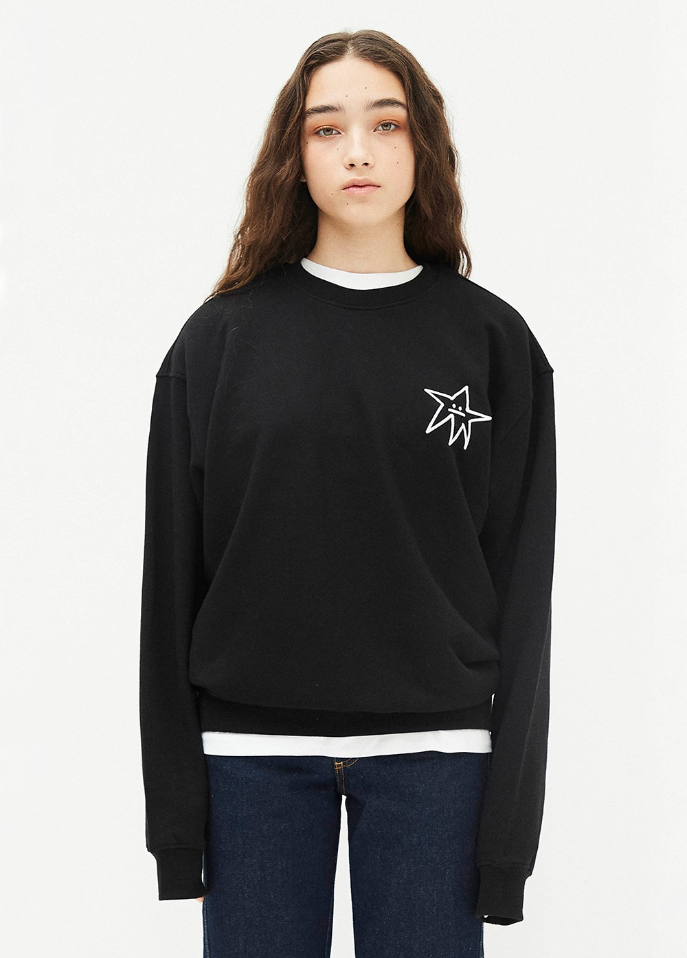 KANCO STAR SWEATSHIRT black