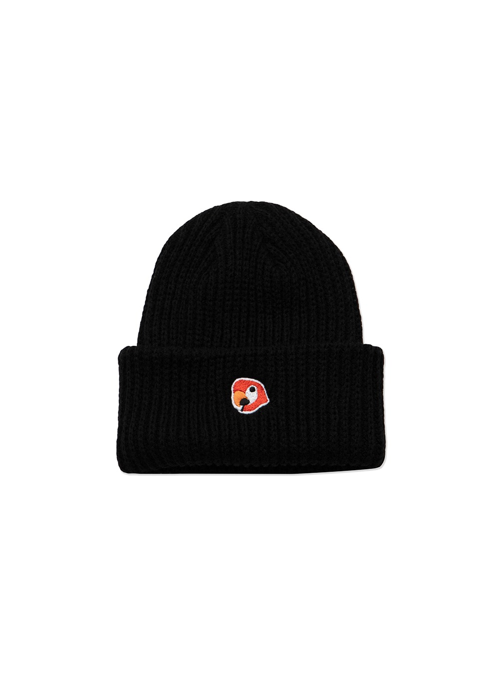 KANCO LOGO SHORT BEANIE black