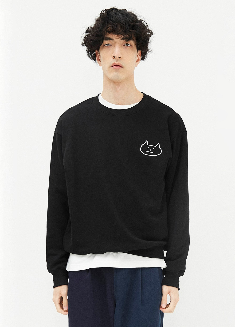 KANCO CAT SWEATSHIRT black