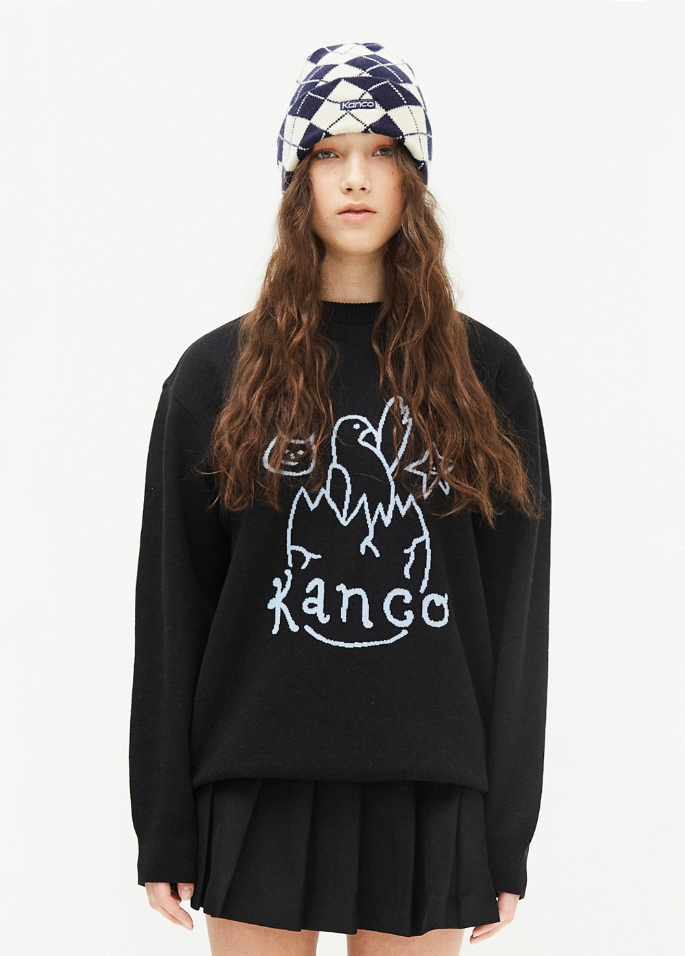 KANCO BIRTHDAY KNIT PULLOVER black