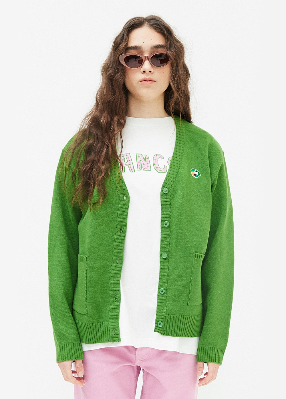 KANCO LOGO CARDIGAN green