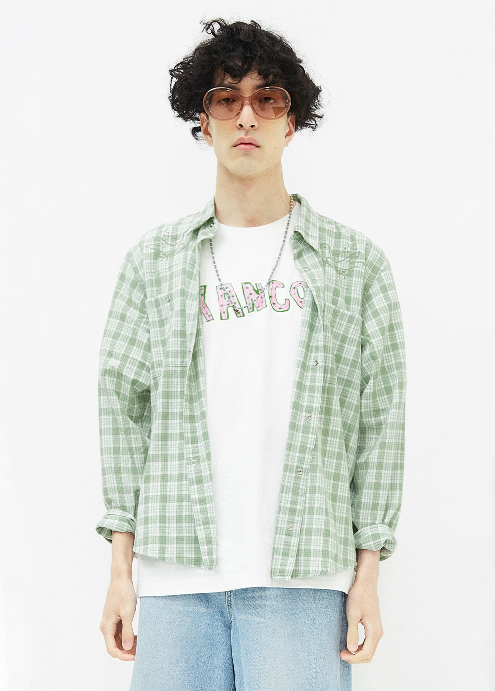 KANCO 2 POCKET CHECK SHIRT green