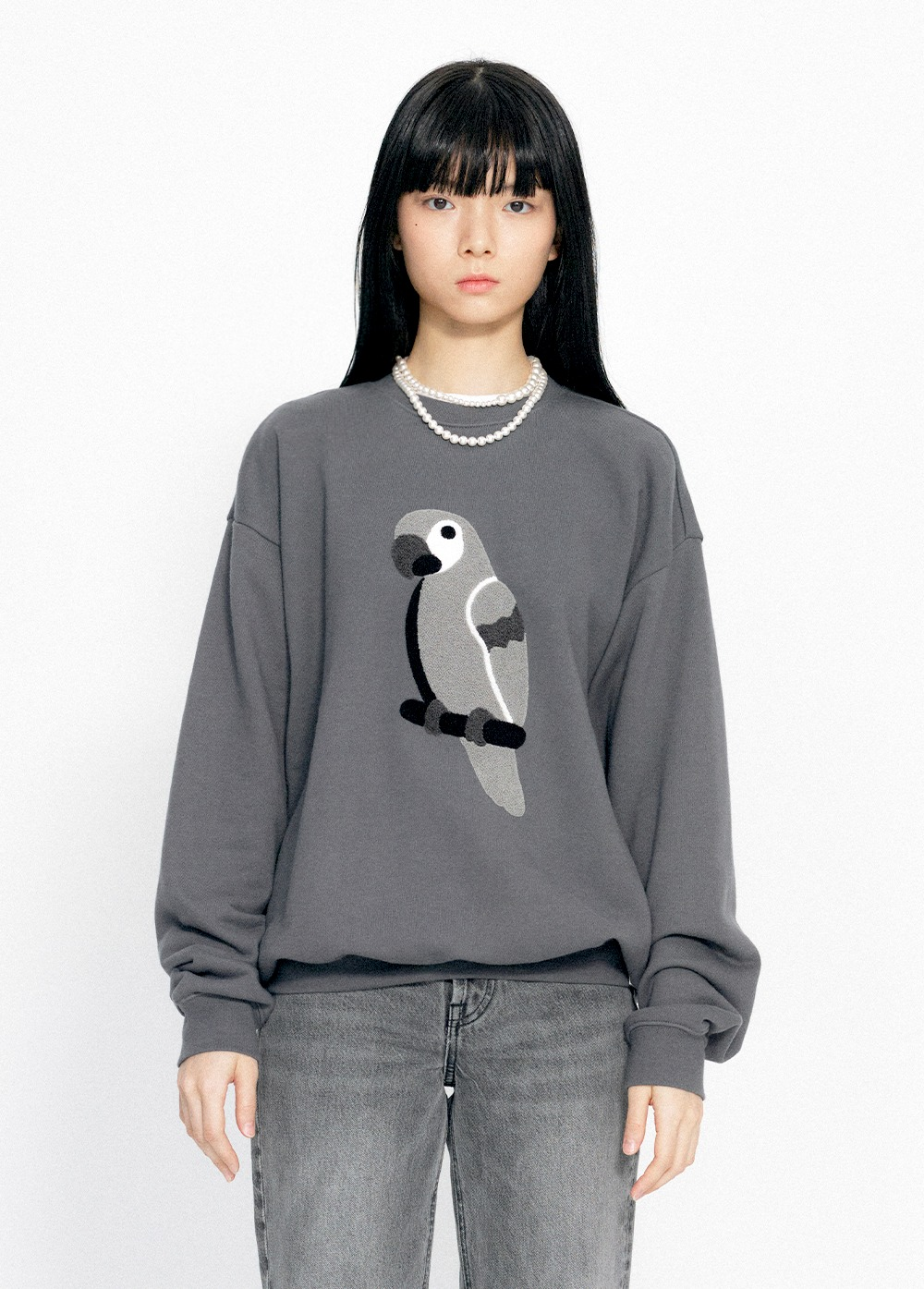 KANCO FULL LOGO SWEATSHIRT charcoal