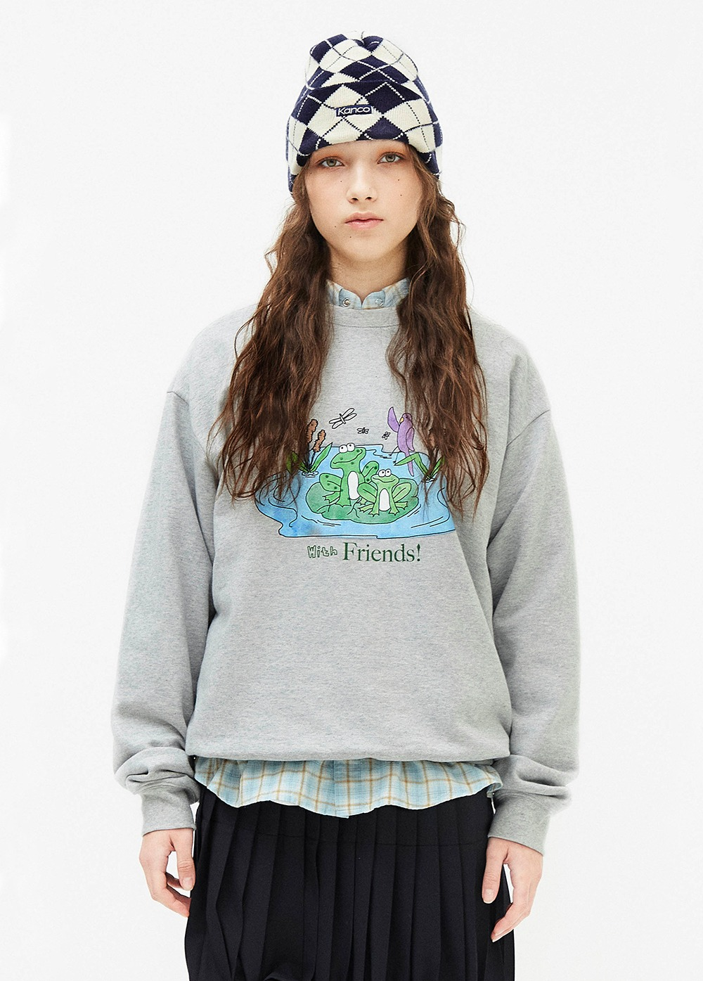 KANCO FRIENDS SWEATSHIRT heather gray