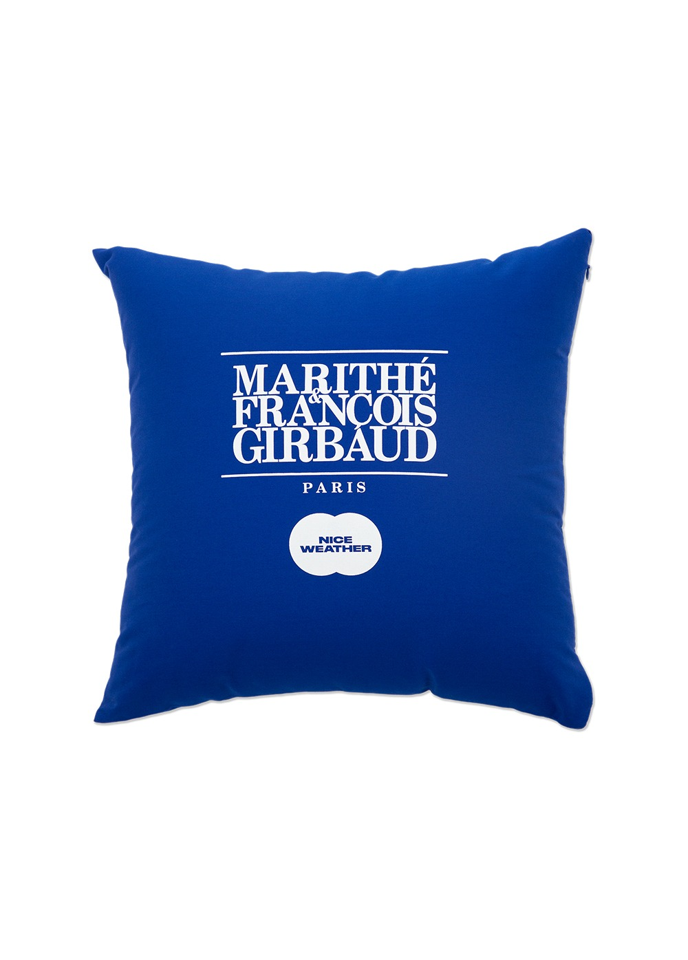 MARITHE X NICE WEATHER CUSHION blue