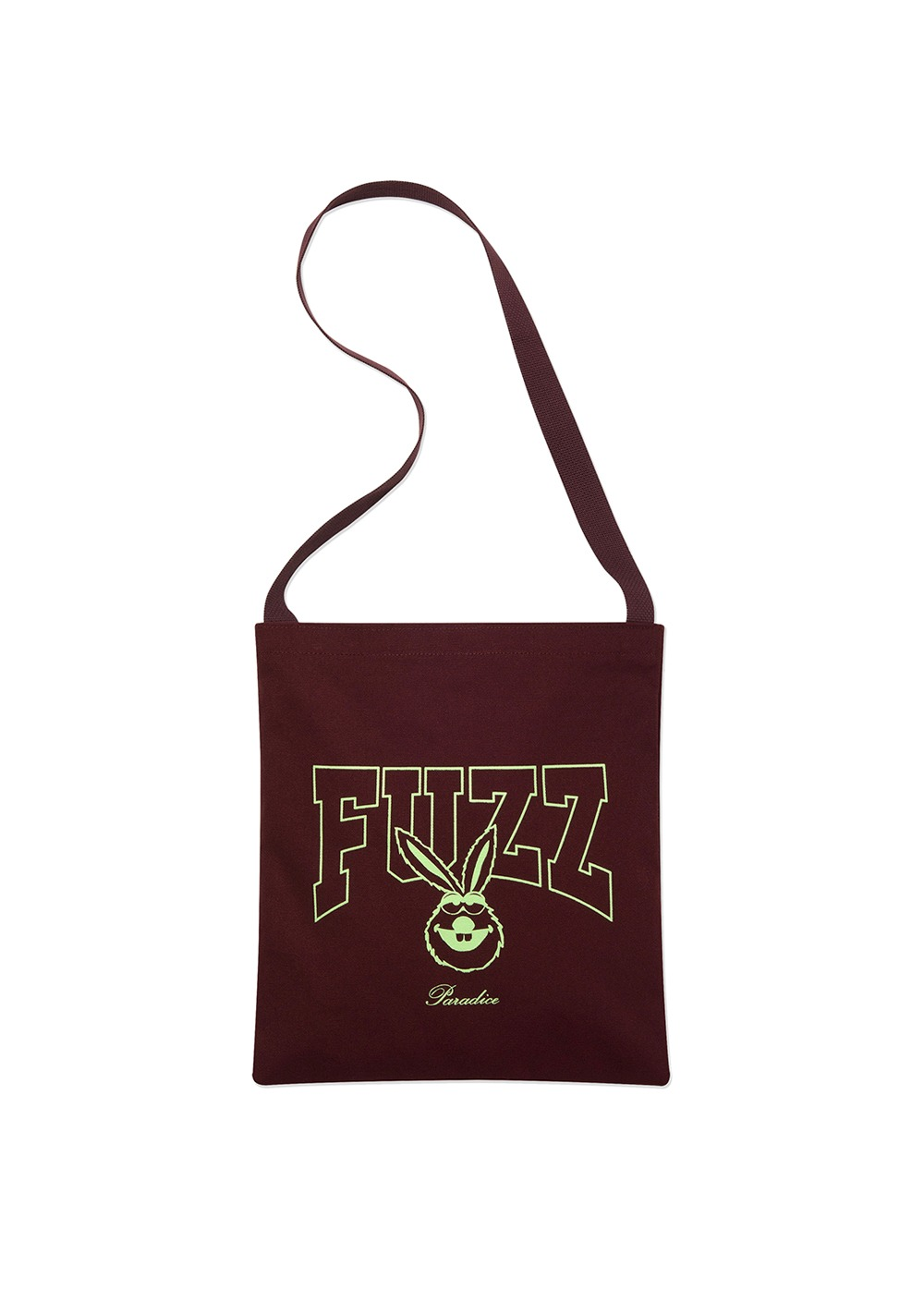 FUZZ BUNNY BONE CANVAS BAG burgundy