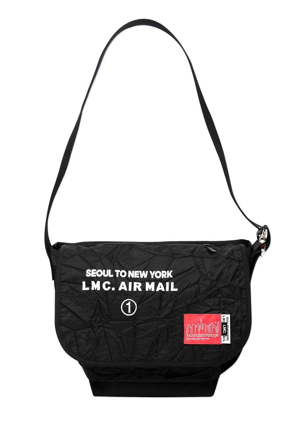 LMC X MANHATTAN PORTAGE VINTAGE MESSENGER BAG (SM) black