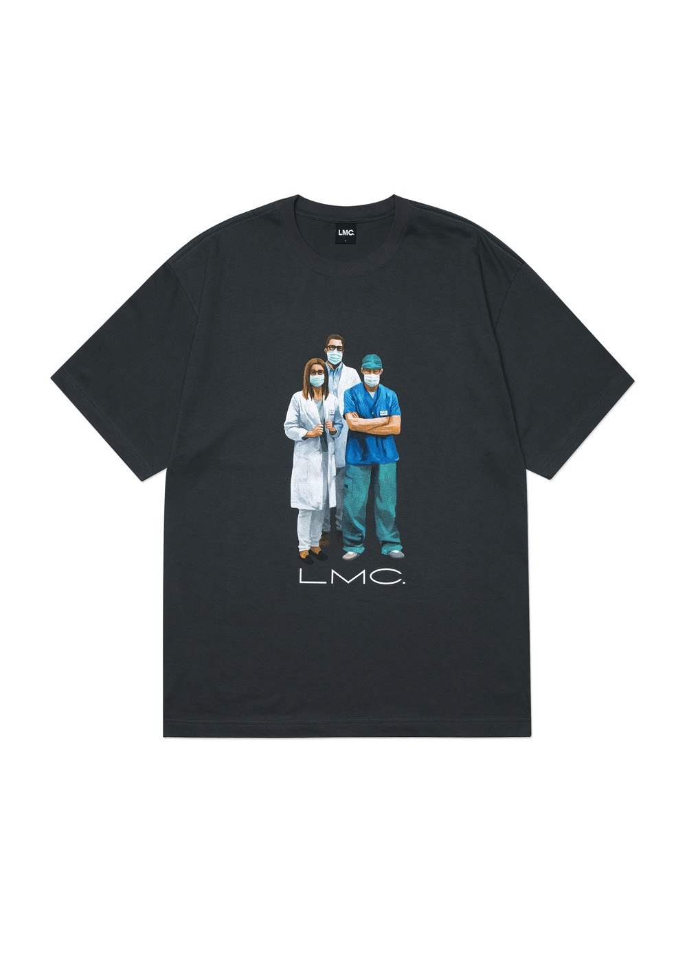 LMC MEDICAL WORKERS TEE charcoal