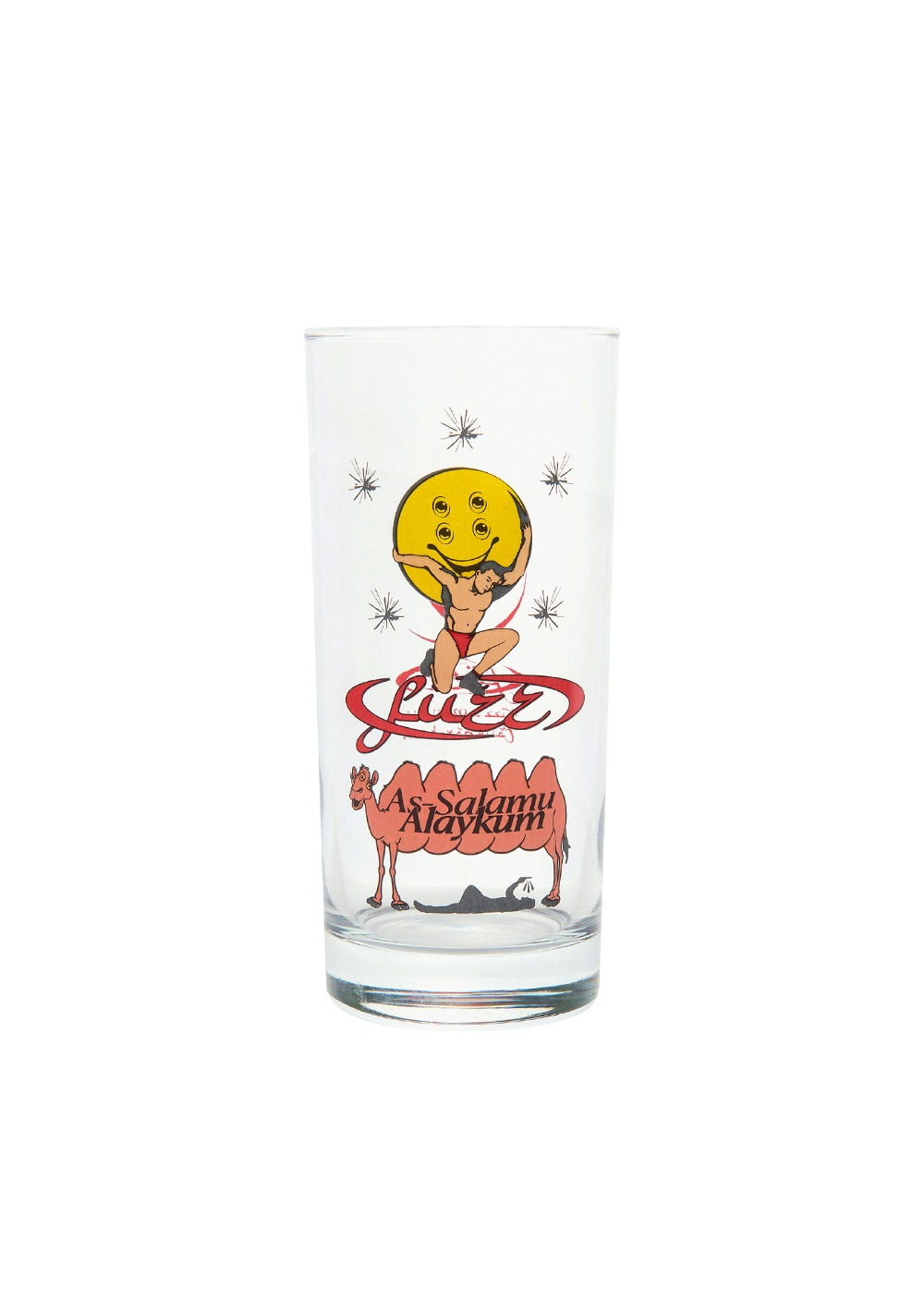 FUZZ X RAREBIRTH ASSALAMU ALAYKUM GLASS CUP clear