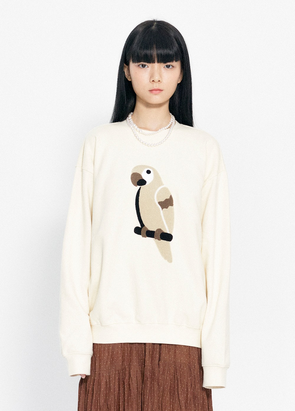 KANCO FULL LOGO SWEATSHIRT ivory