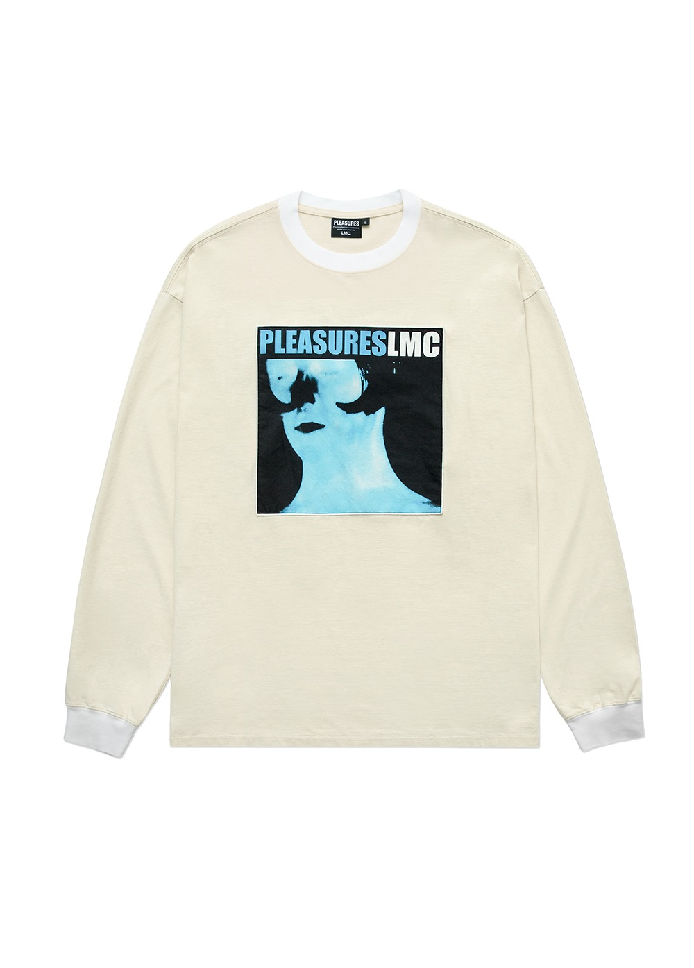 LMC X PLEASURES DIVINE LONG SLV TEE cream