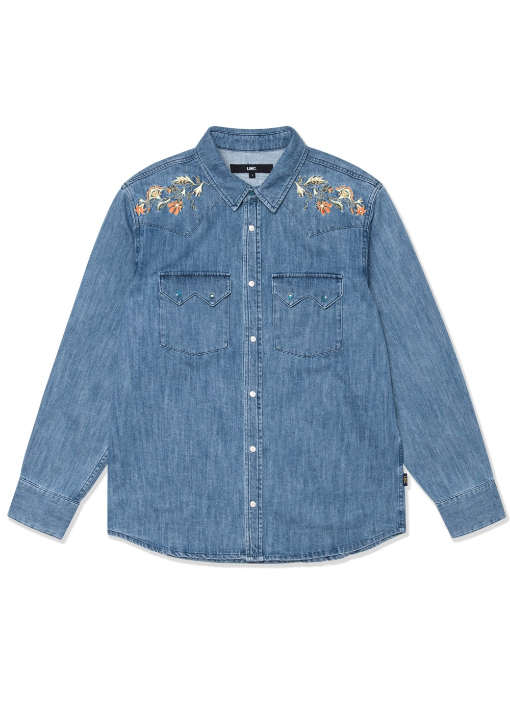 LMC WESTERN DENIM SHIRT blue