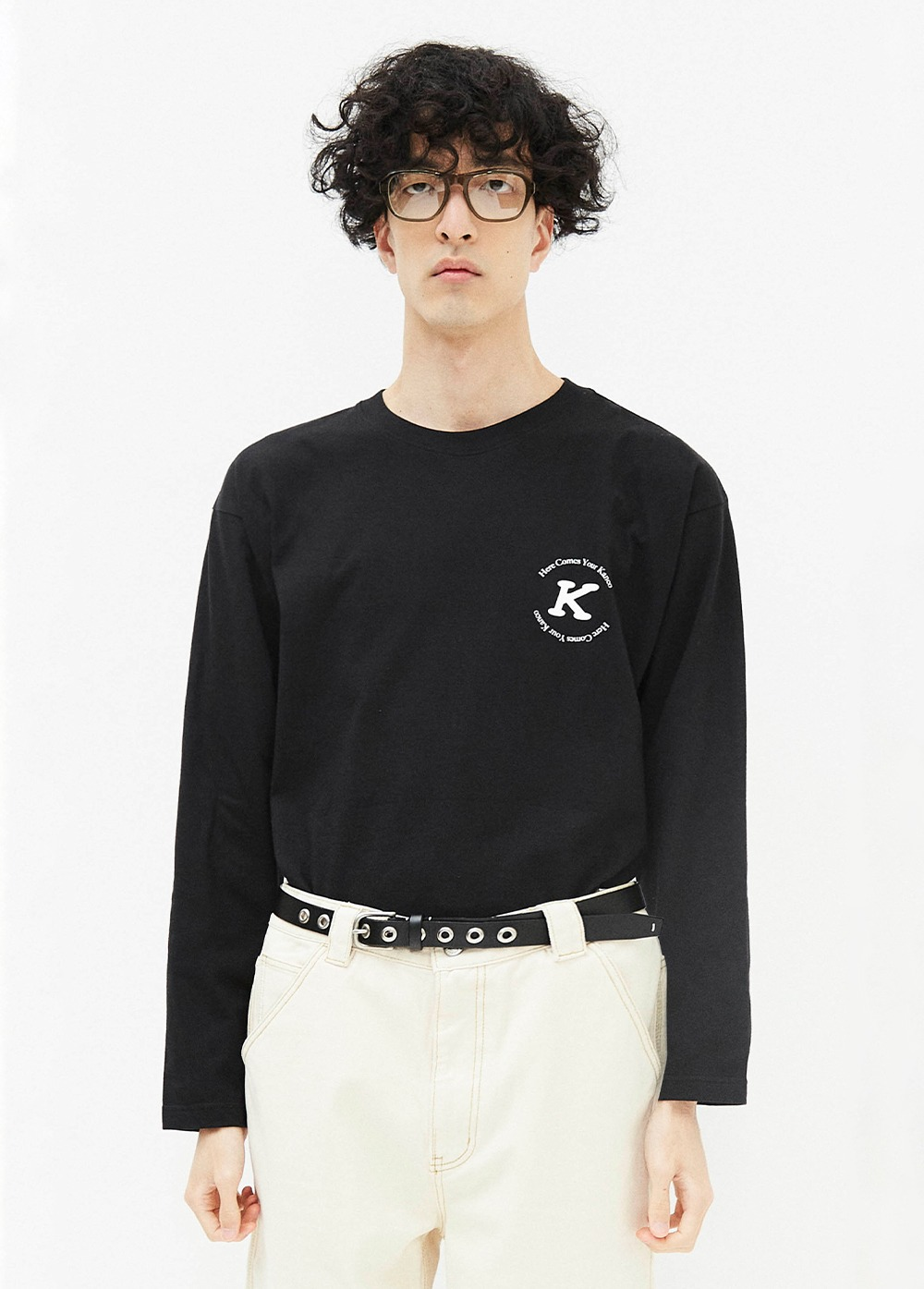 KANCO SERIF LONG SLEEVE TEE black