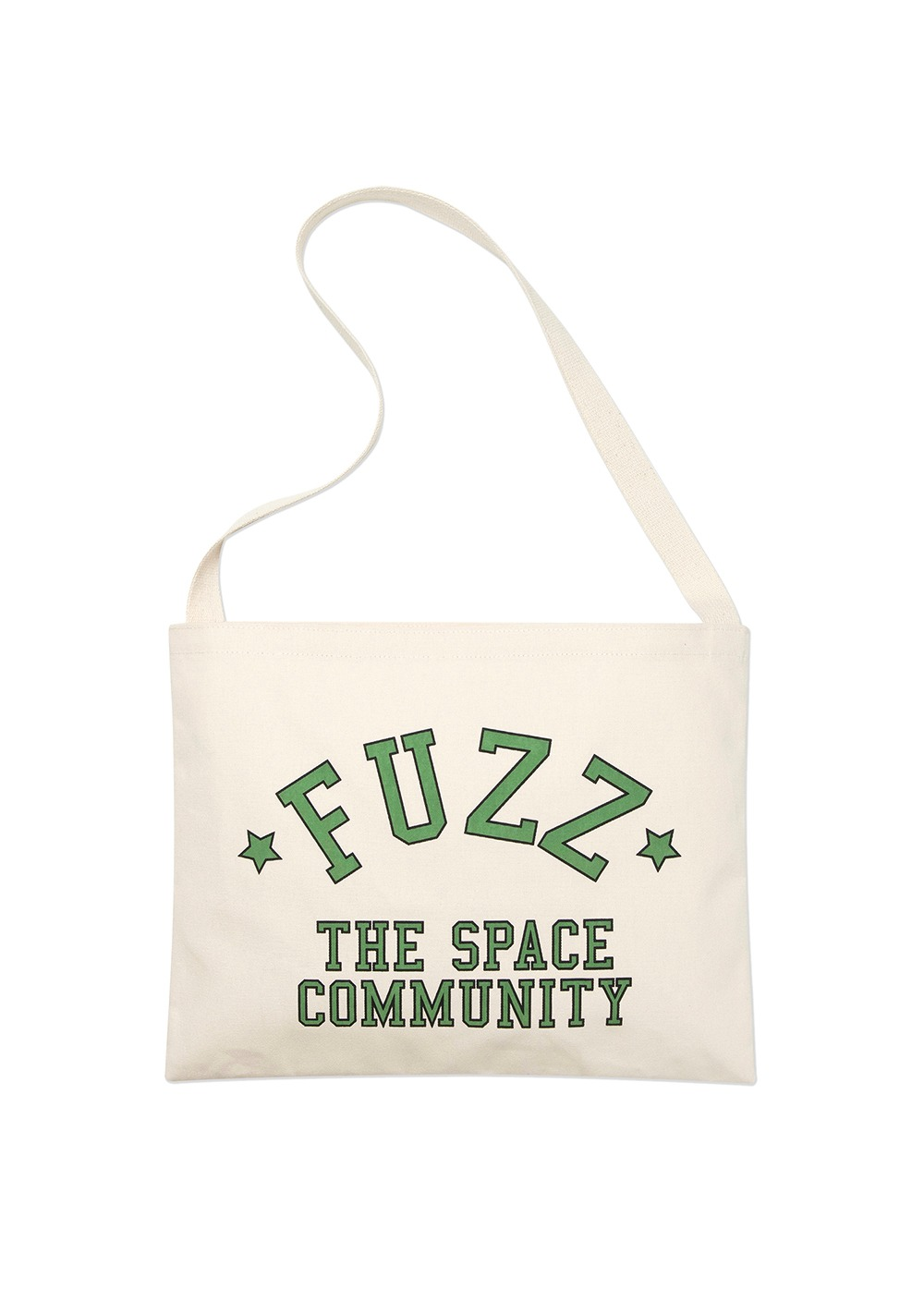 FUZZ CANVAS SHOULDER BAG cream
