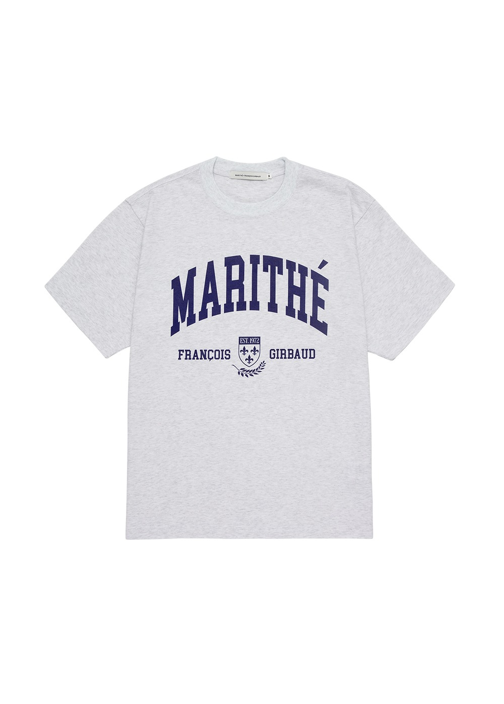 MARITHE COLLEGE TEE heather gray