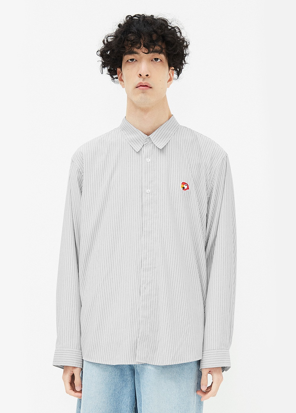 KANCO LOGO OXFORD SHIRT stripe black