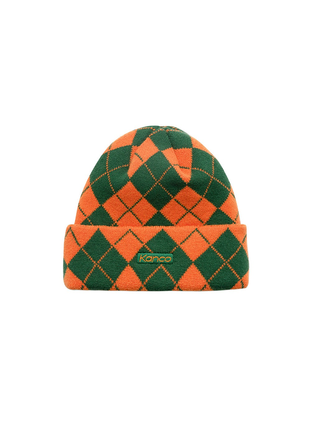 KANCO ARGYLE BEANIE orange