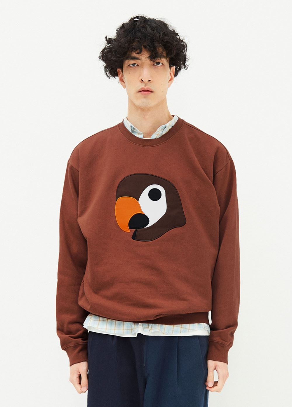 KANCO APPLIQUE SWEATSHIRT brown