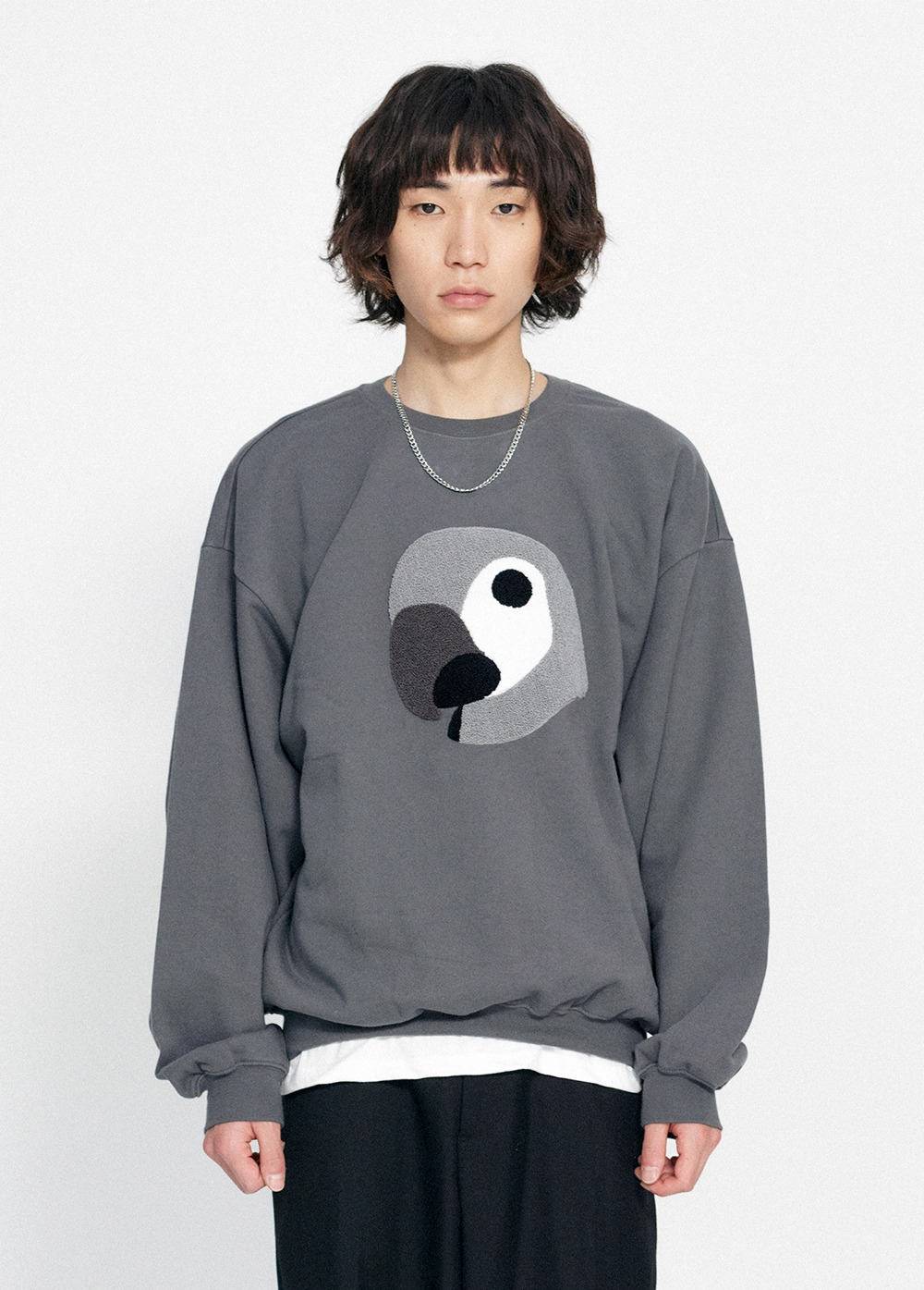 KANCO BIG LOGO SWEATSHIRT charcoal